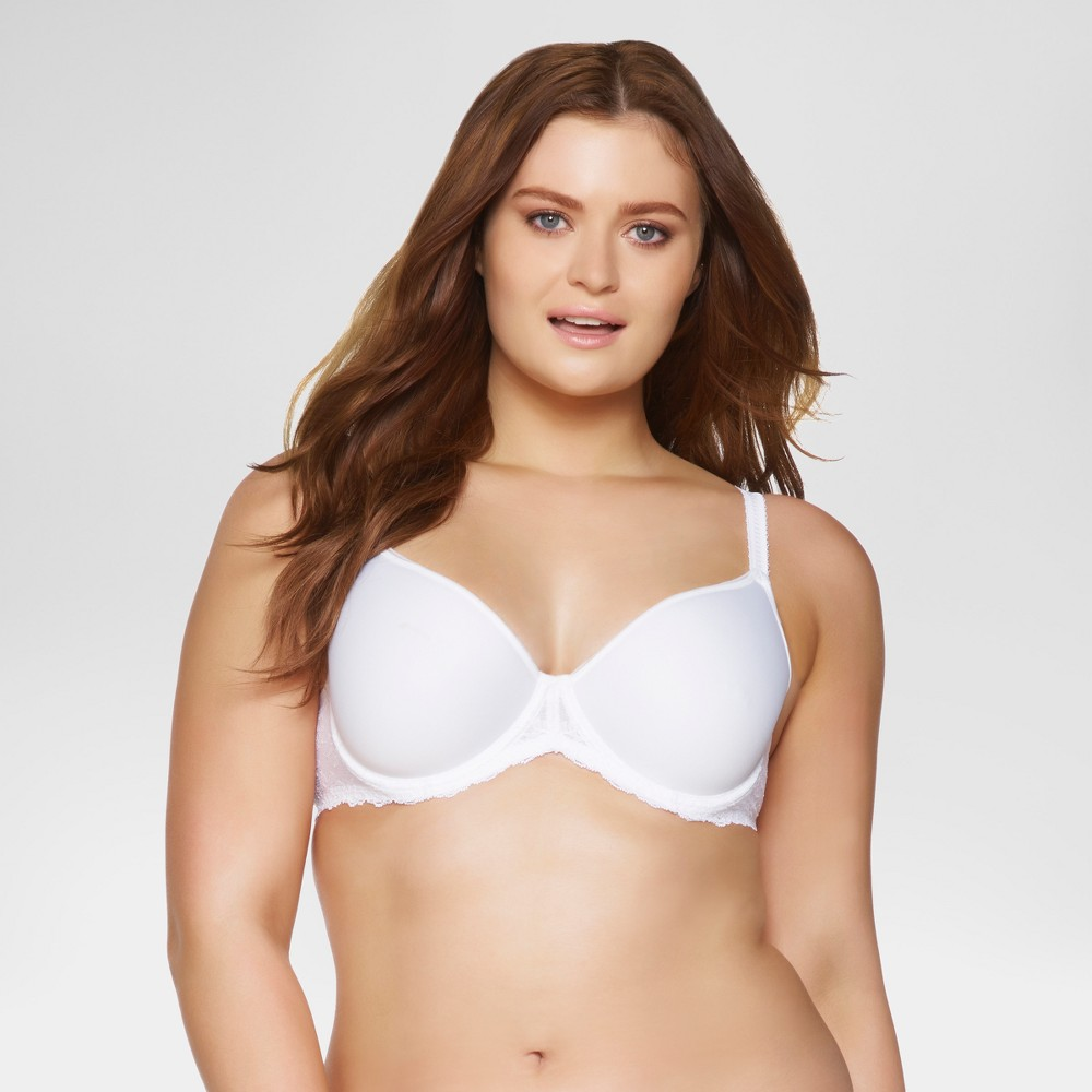 Paramour Womens Ariel Light & Breathable Contour Bra - White 36DD