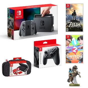 Nintendo Switch with Gray Joy-Con Starter Bundle