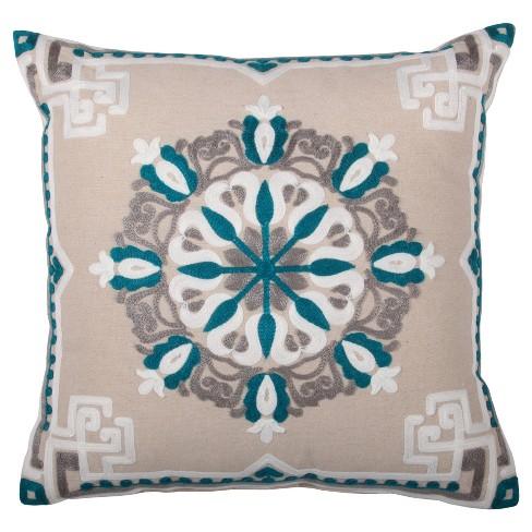 Teal Dana Throw Pillow 18 X18 Lush Décor