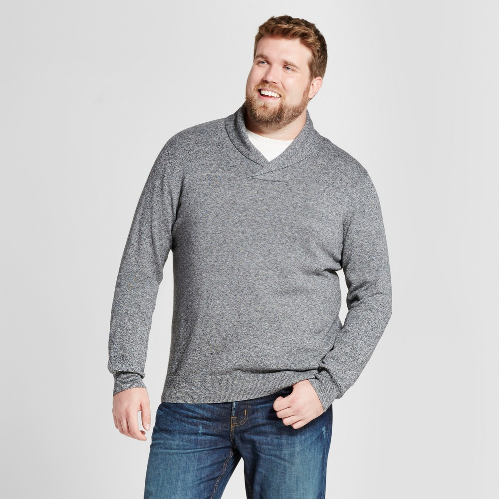 Mens Big & Tall Pullover Shawl Collar Sweater - Goodfellow & Co Gray Xlt