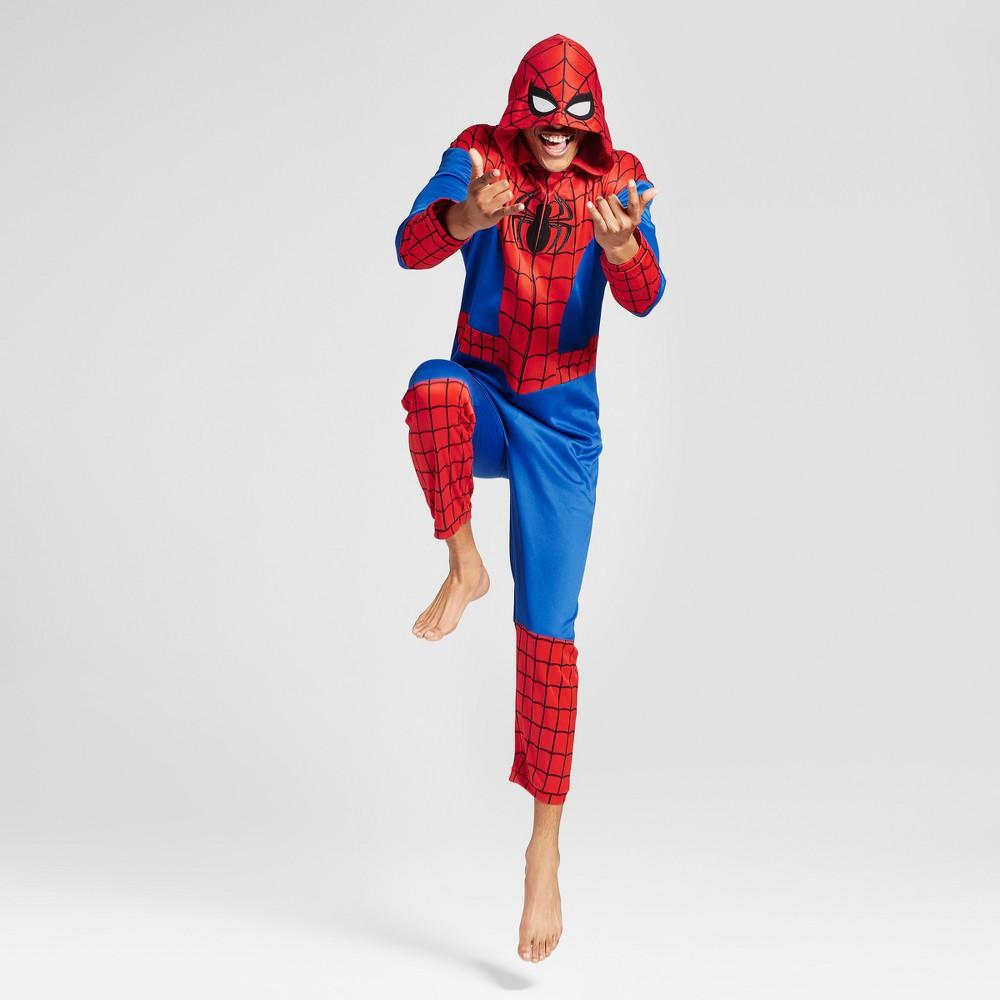 Mens Spider-Man Union Suit- Red L