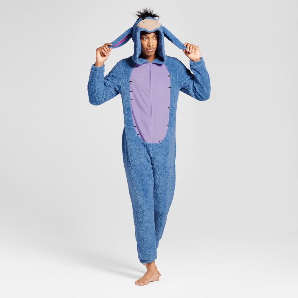 Mens Eeyore Union Suit- Blue L