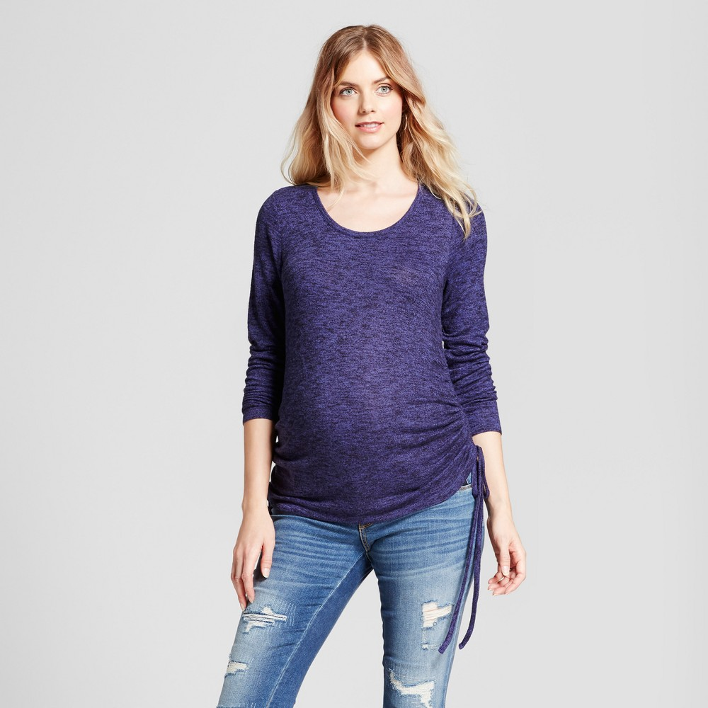 Maternity Side-Tie Long Sleeve Top - Isabel Maternity by Ingrid & Isabel Federal Blue XS, Womens