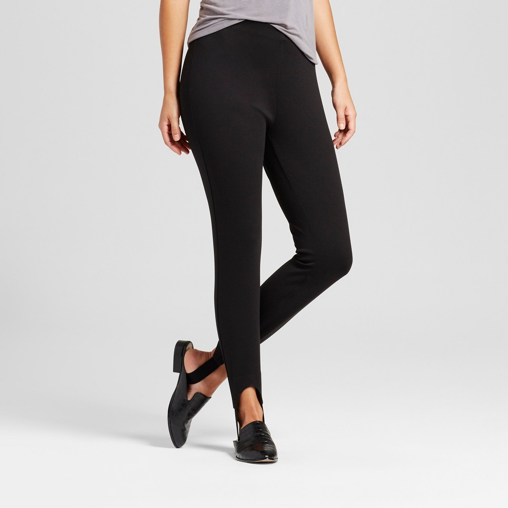 Womens Skinny Ponte Stirrup Pants - Mossimo Black S