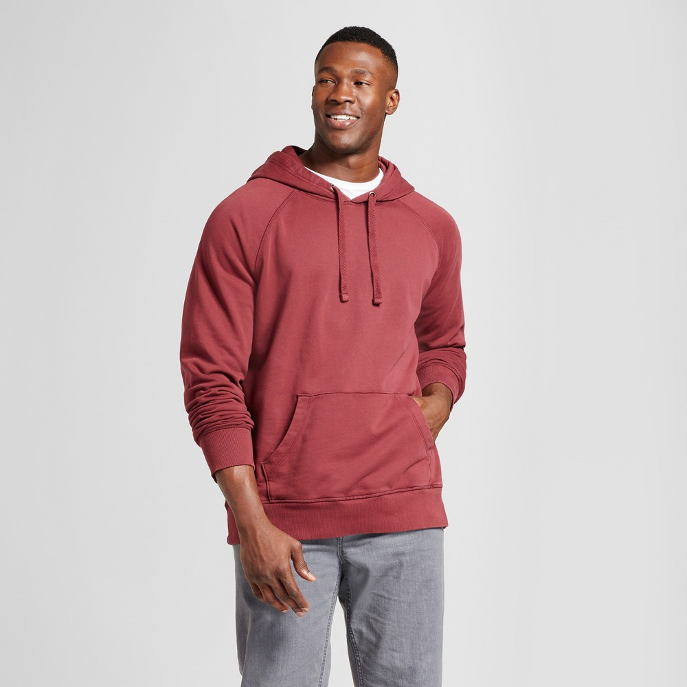 Mens Big & Tall Standard Fit Long Sleeve Hooded Sweatshirt - Goodfellow & Co Burgundy (Red) 2XB