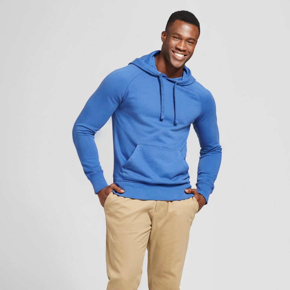 Men's Big & Tall Standard Fit Long Sleeve Hooded Sweatshirt - Goodfellow & Co Royal Blue LT