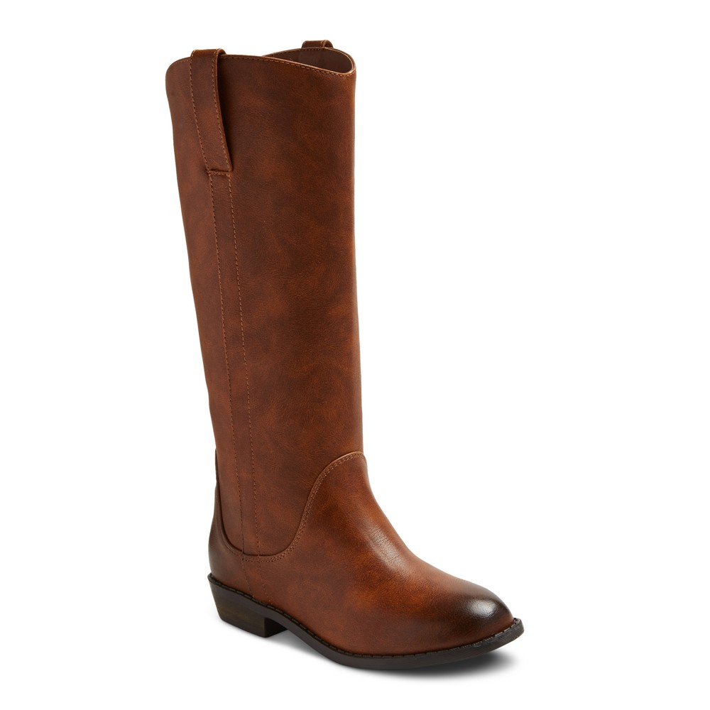 Girls Haven Riding Boot Black Cat & Jack Brown 4
