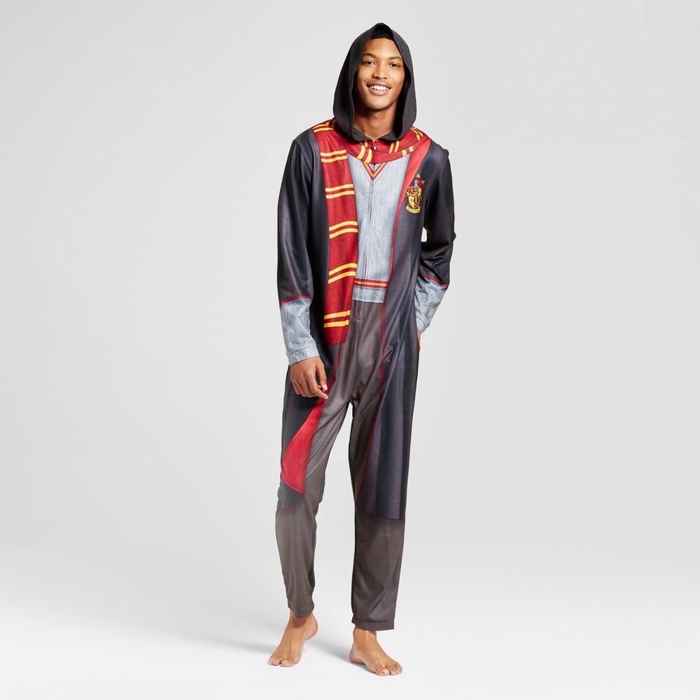 Mens Harry Potter Union Suit- Black L