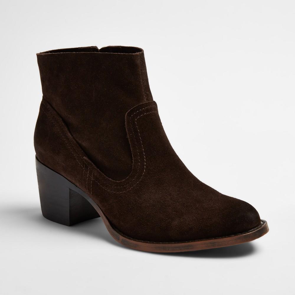 Womens Soho Cobbler Fields Suede Booties - Chocolate (Brown) 11