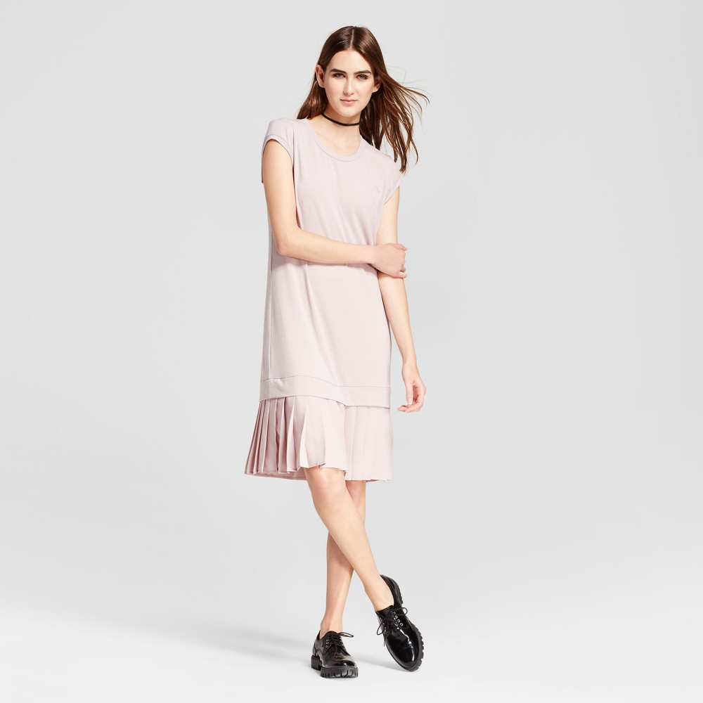 Womens Mini Cap Sleeve Layered Shift Dress - Mossimo Pink XL