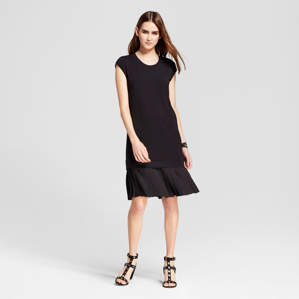 Womens Mini Cap Sleeve Layered Shift Dress - Mossimo Black M