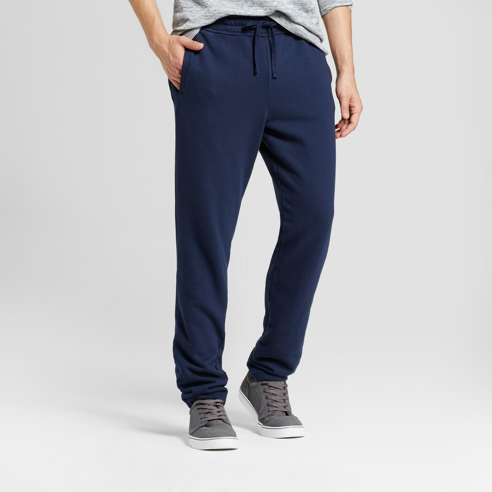 Mens French Terry Sweatpants - Goodfellow & Co Navy (Blue) L