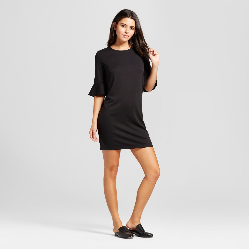 Womens Bell Sleeve Shift Dress - Mossimo Black L
