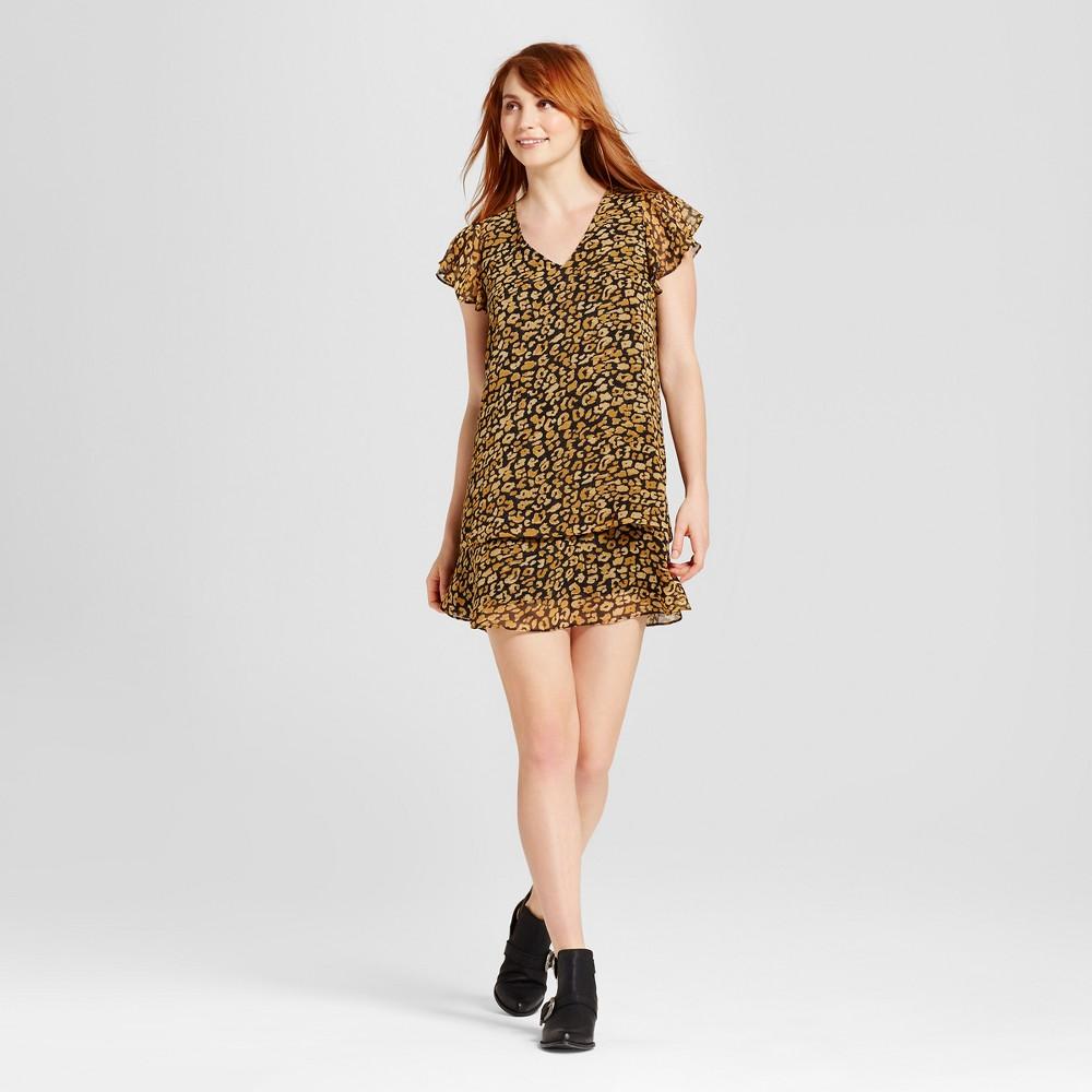 Womens Ruffle Dress - Who What Wear Cheetah Print S