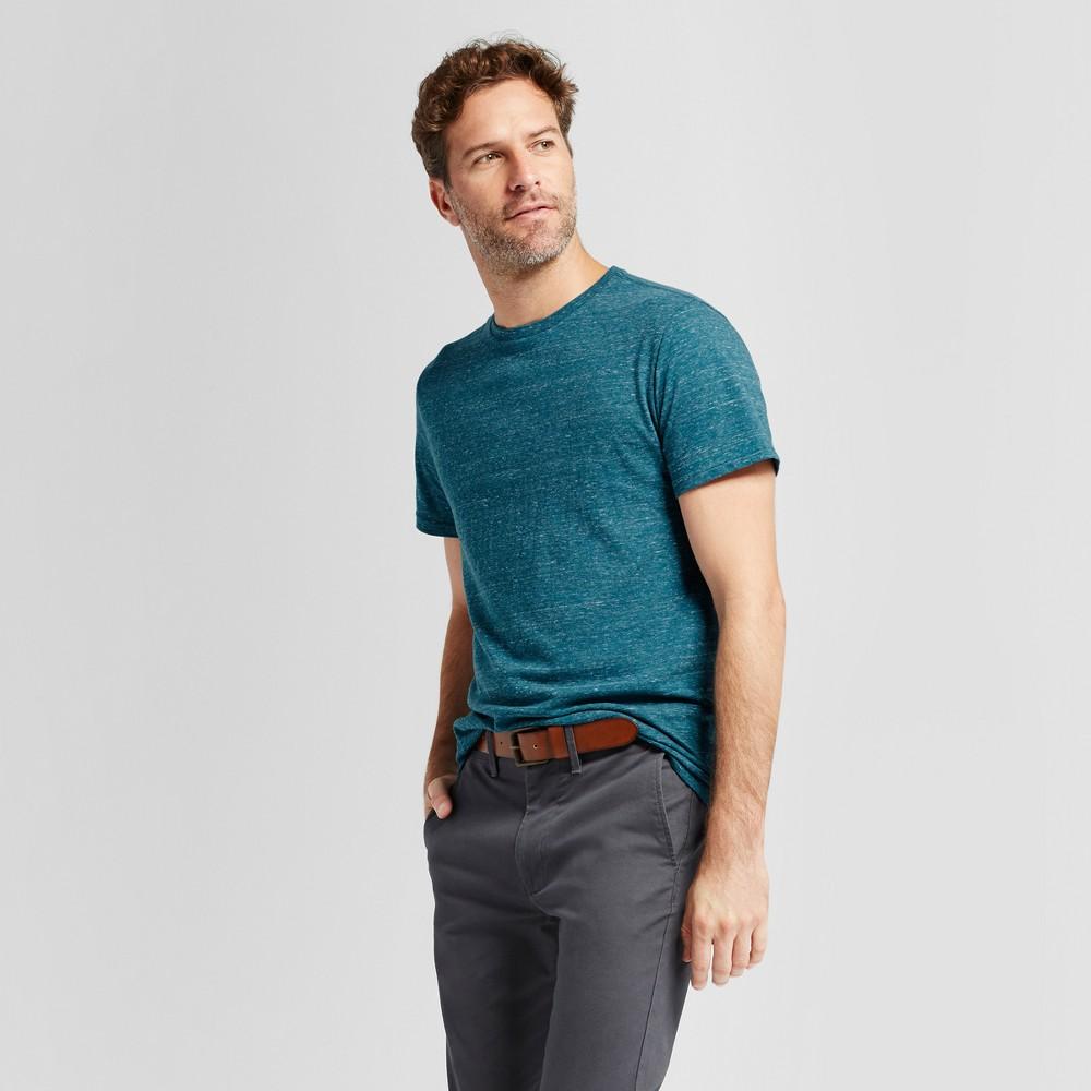 Mens Standard Fit Short Sleeve Crew T-Shirt - Goodfellow & Co Teal (Blue) Xxl