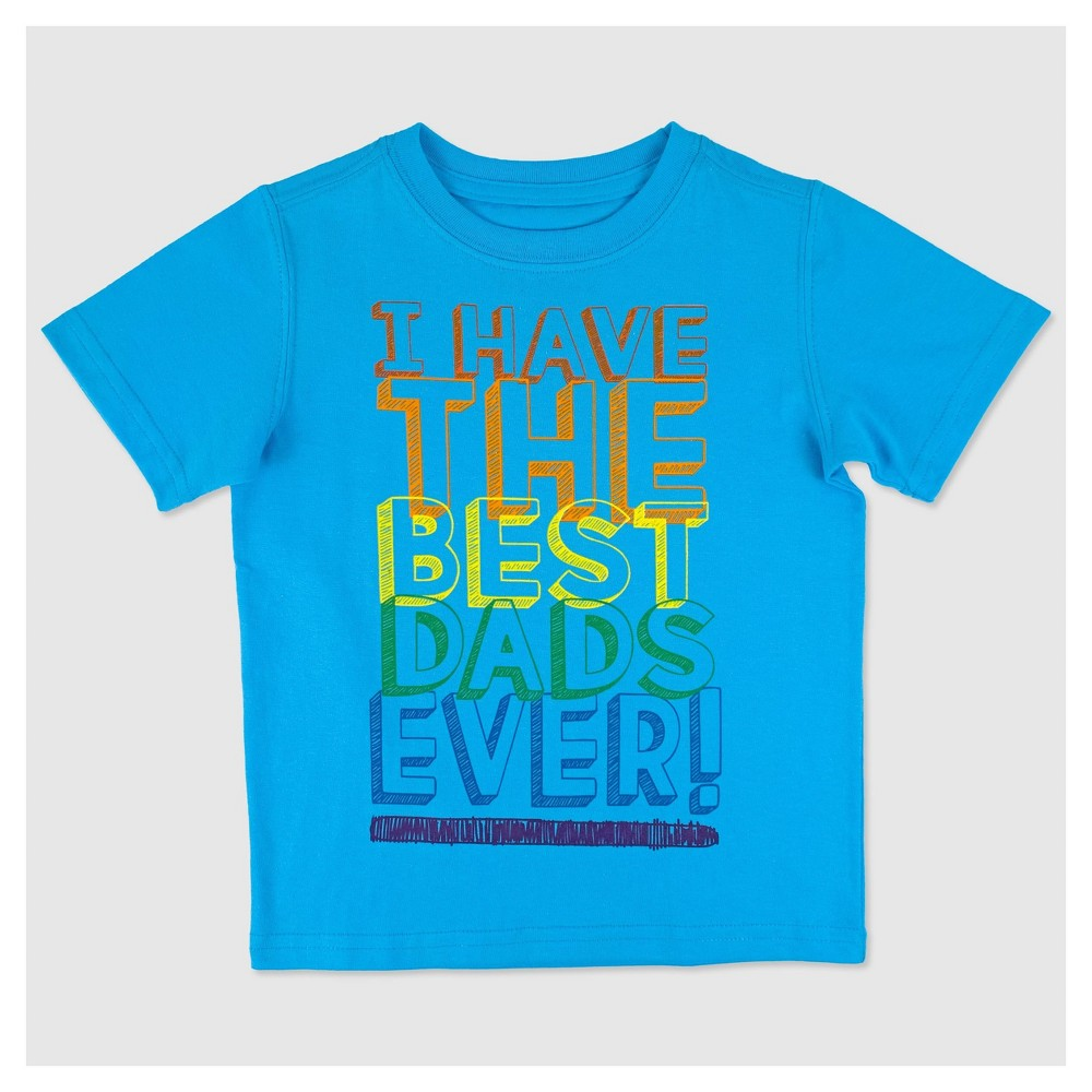 Little Rebels Toddler Boys Best Dads Pride T-Shirt - Blue 2T