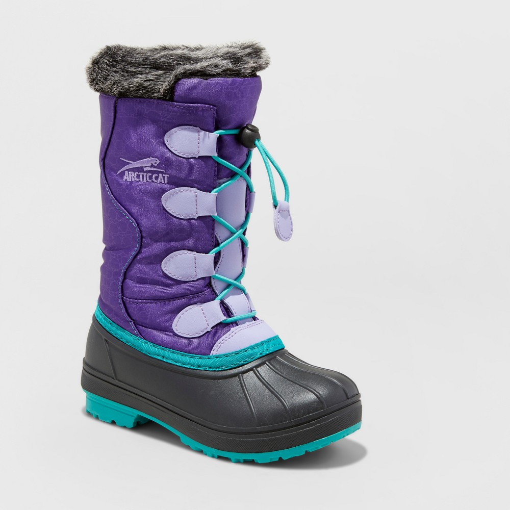 Girls Arctic Cat Snowcharm Winter Boots - Purple 3