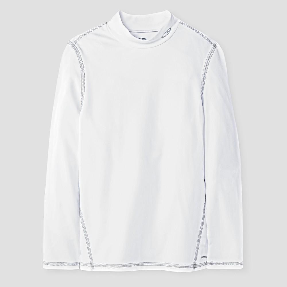 Boys Power Core Brushed Compression Long Sleeve Mock - C9 Champion - White M