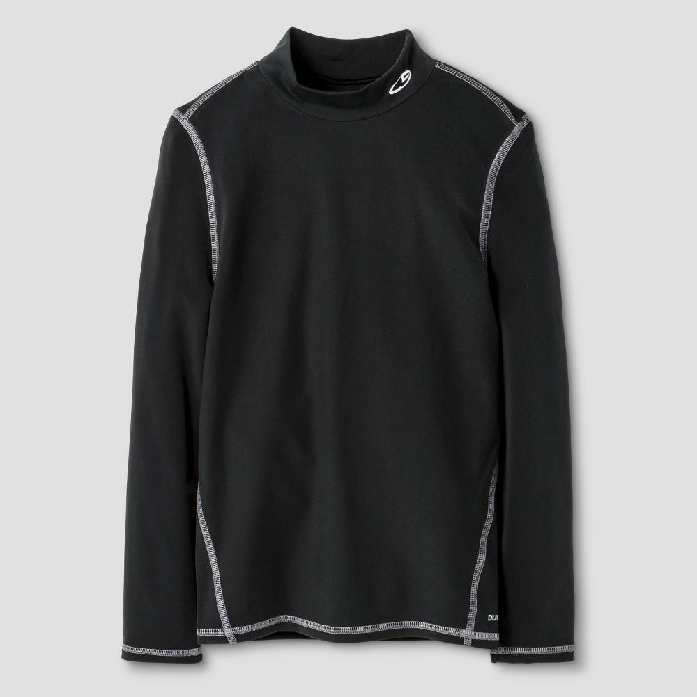Boys' Power Core Brushed Compression Long Sleeve Mock - C9 Champion - Black S