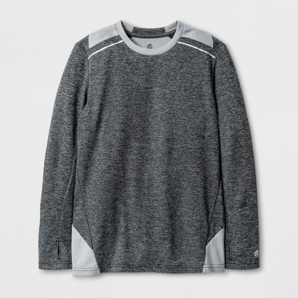 Boys Novelty Long Sleeve Tech T-Shirt - C9 Champion - Gray Heather M
