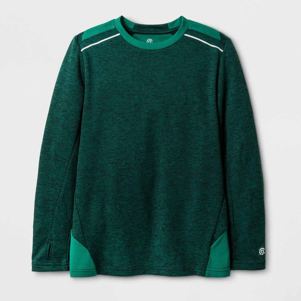 Boys Novelty Long Sleeve Tech T-Shirt - C9 Champion - Green Clover Heather M
