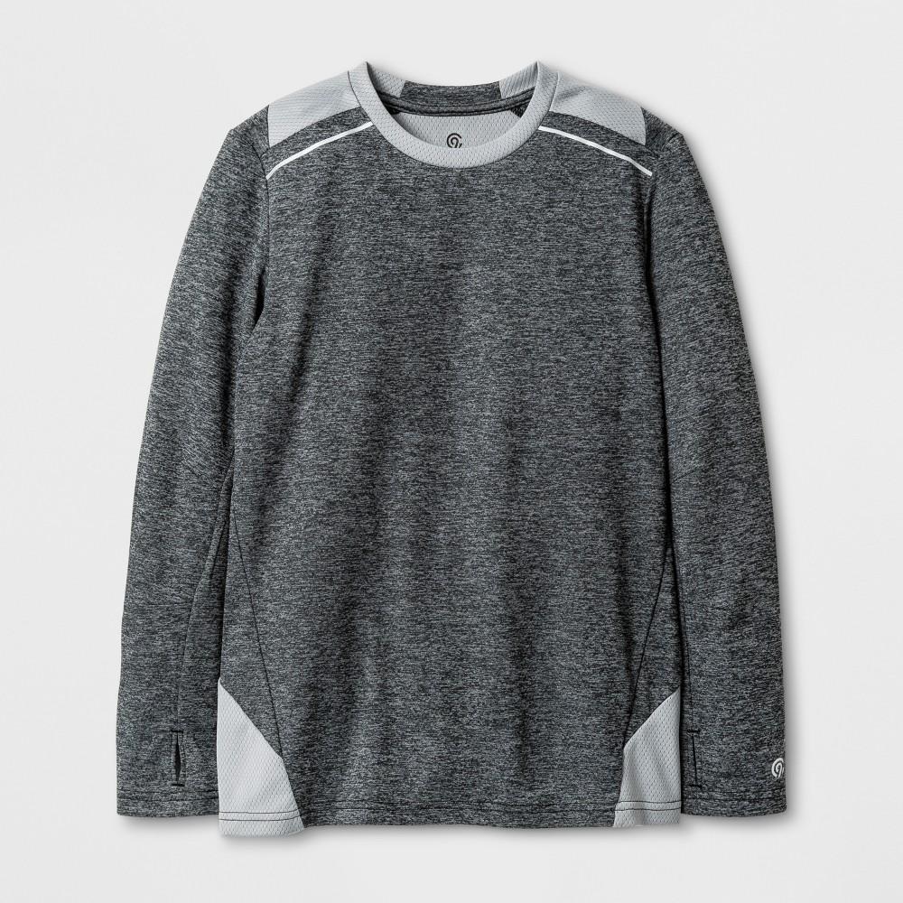 Boys Novelty Long Sleeve Tech T-Shirt - C9 Champion - Gray Heather XS