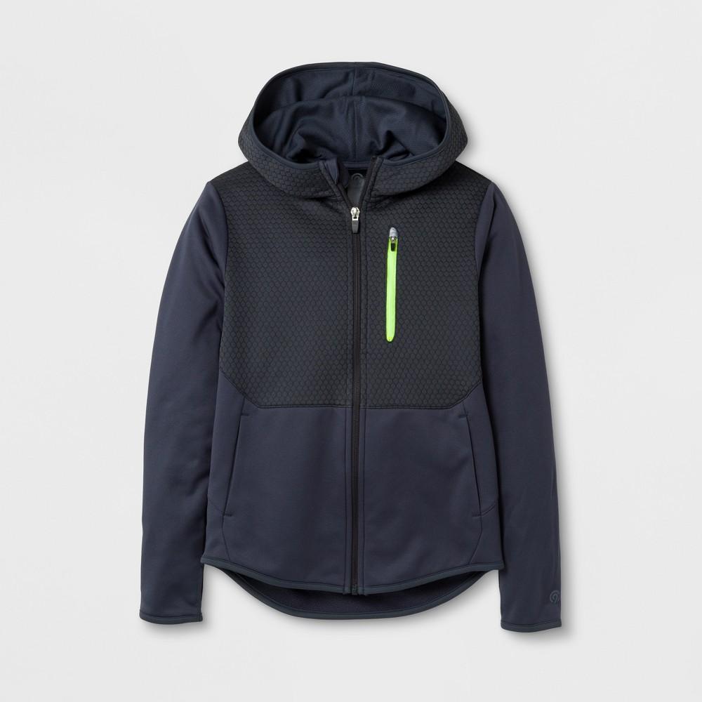 Boys Elevated Tech Fleece Full Zip Hoodie - C9 Champion - Stealth Gray S, Dark Gray