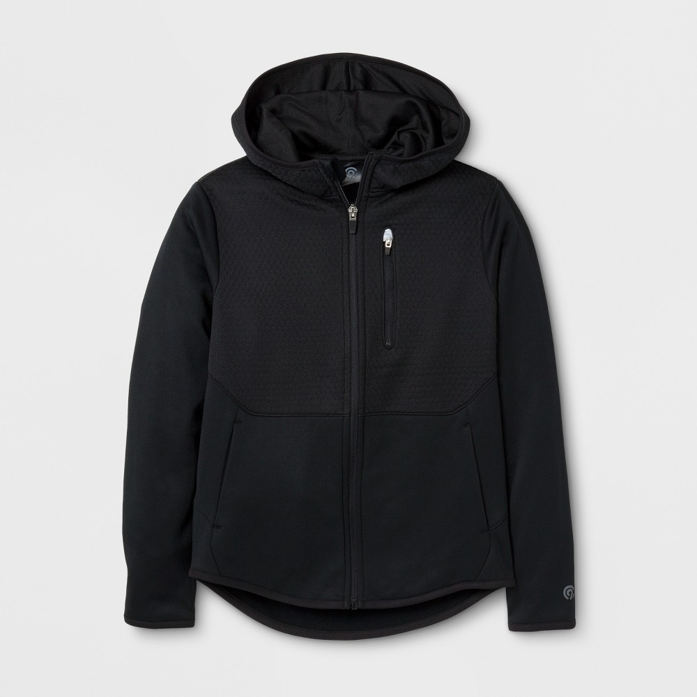 Boys' Elevated Tech Fleece Full Zip Hoodie - C9 Champion - Black XL