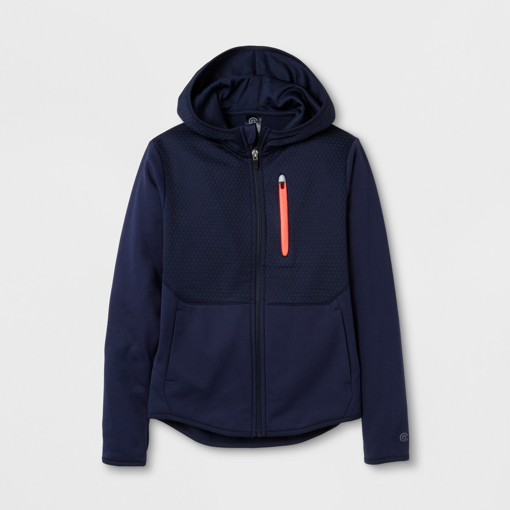 Boys' Elevated Tech Fleece Full Zip Hoodie - C9 Champion - Navy (Blue) M