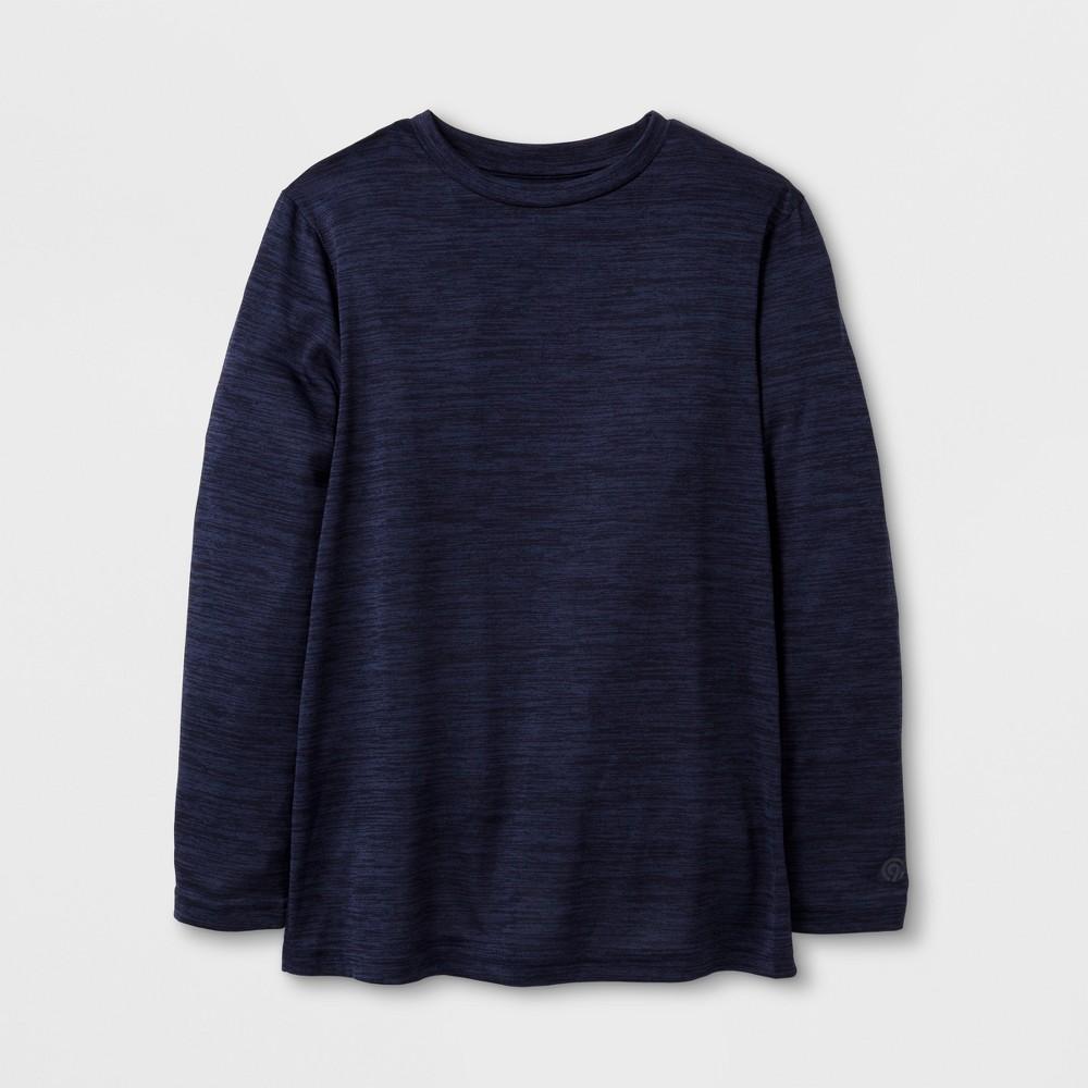 Boys Long Sleeve Tech T-Shirt - C9 Champion - Navy (Blue) Heather S
