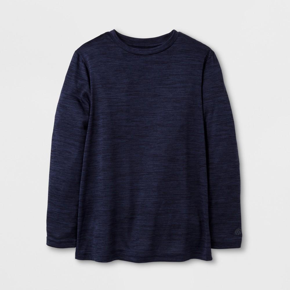 Boys Long Sleeve Tech T-Shirt - C9 Champion - Navy (Blue) Heather M