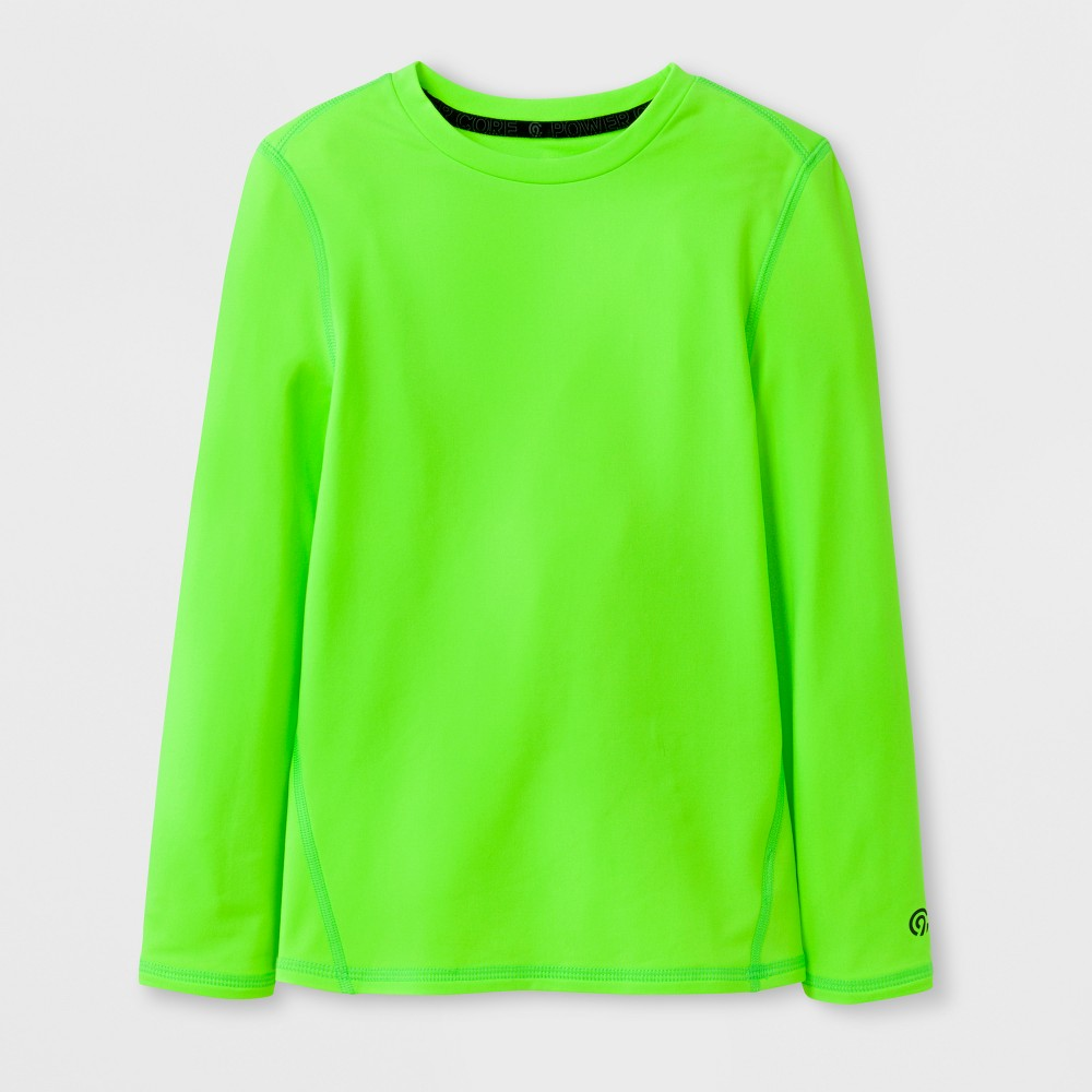 Boys Power Core Brushed Compression Long Sleeve Crew T-Shirt - C9 Champion - Forging Green L
