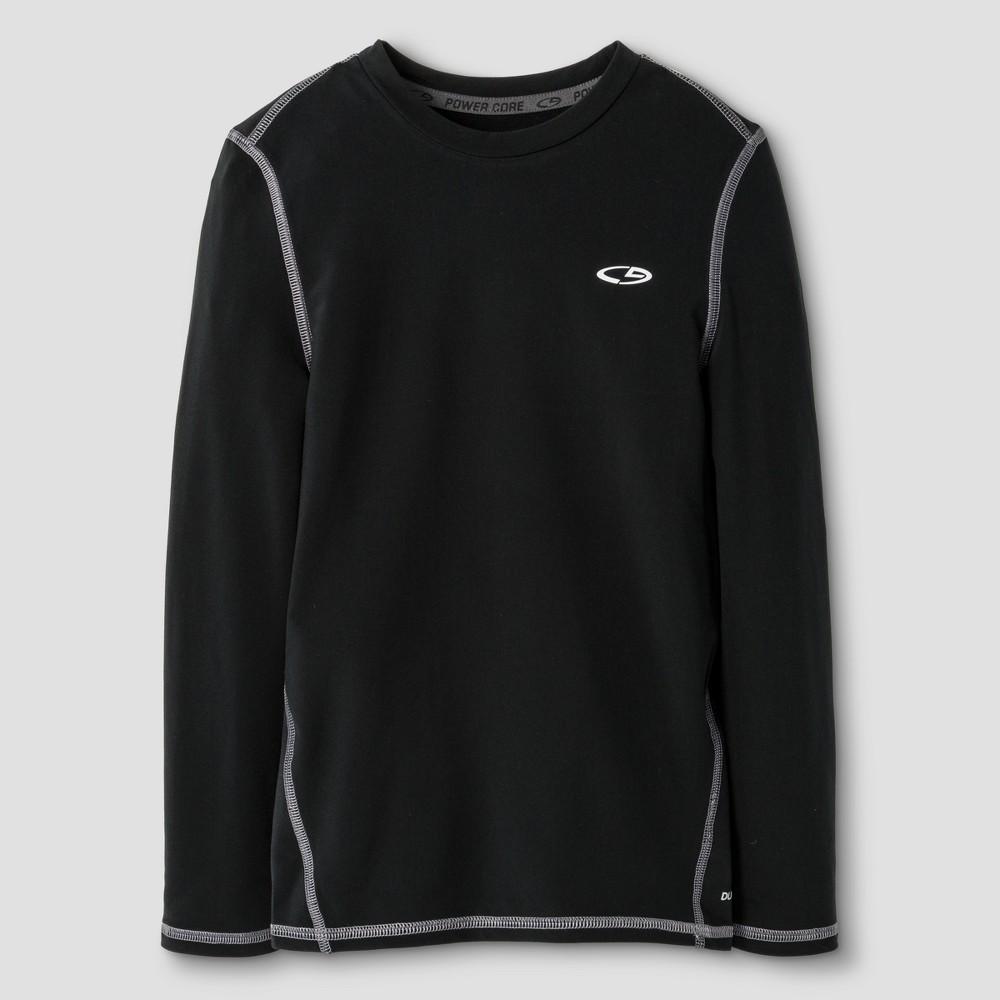 Boys' Power Core Brushed Compression Long Sleeve Crew T-Shirt - C9 Champion - Black XL