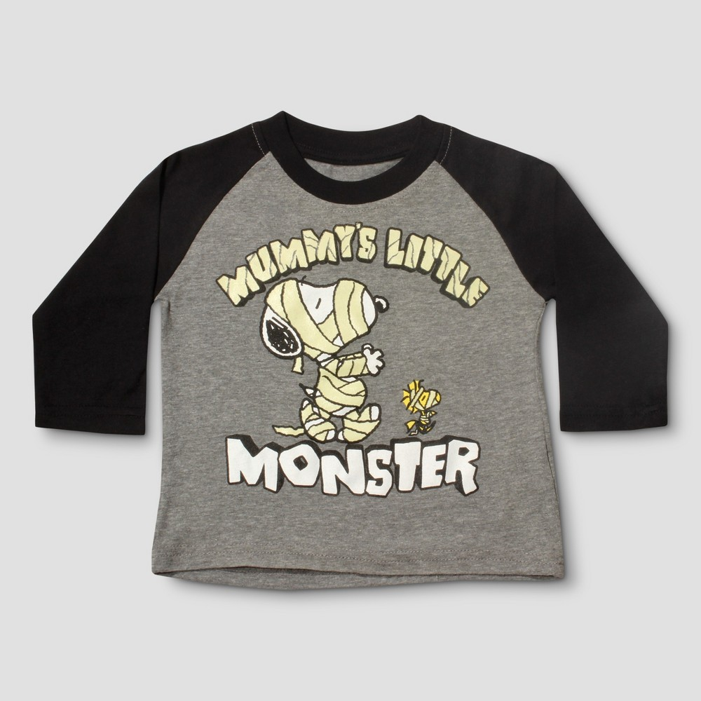 T-Shirt Snoopy Heather Gray 3T, Infant Boys