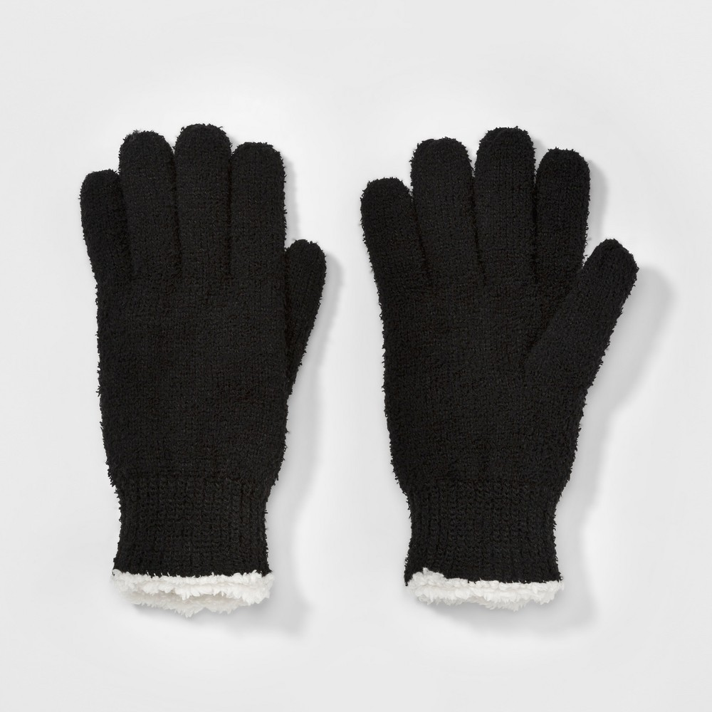Womens SmarTouch Mixed Acrylic Knit Glove - Isotoner Black