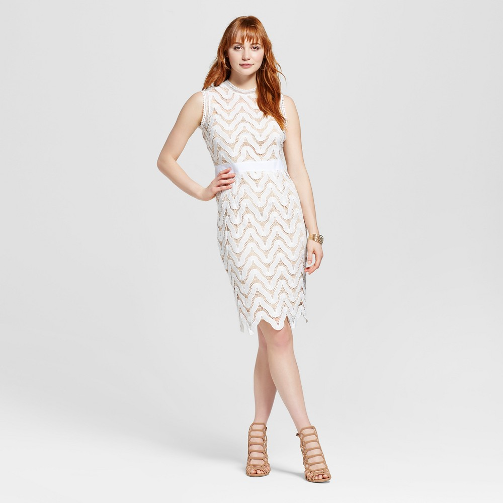 Womens Lace Midi Dress - Alison Andrews Snow White M