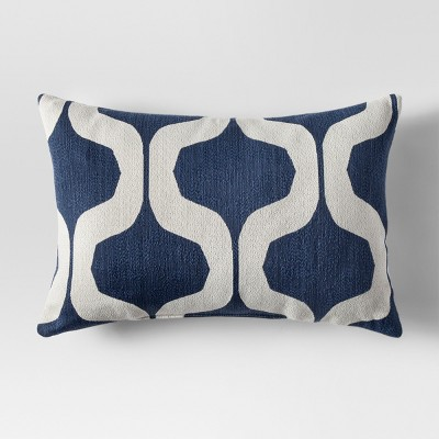 Blue Ogee Lumbar Throw Pillow - Project 62™