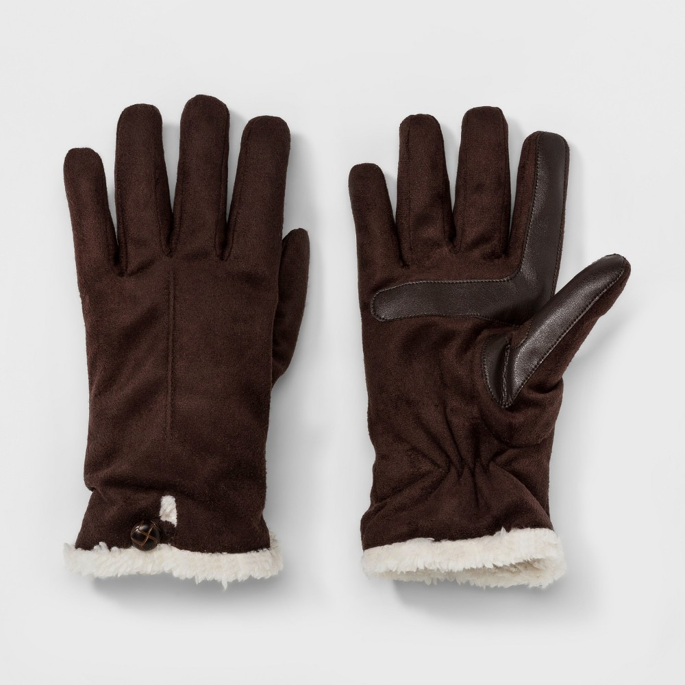 Womens Isotoner SmarTouch Microsuede Gloves - Brown, Size: S/M