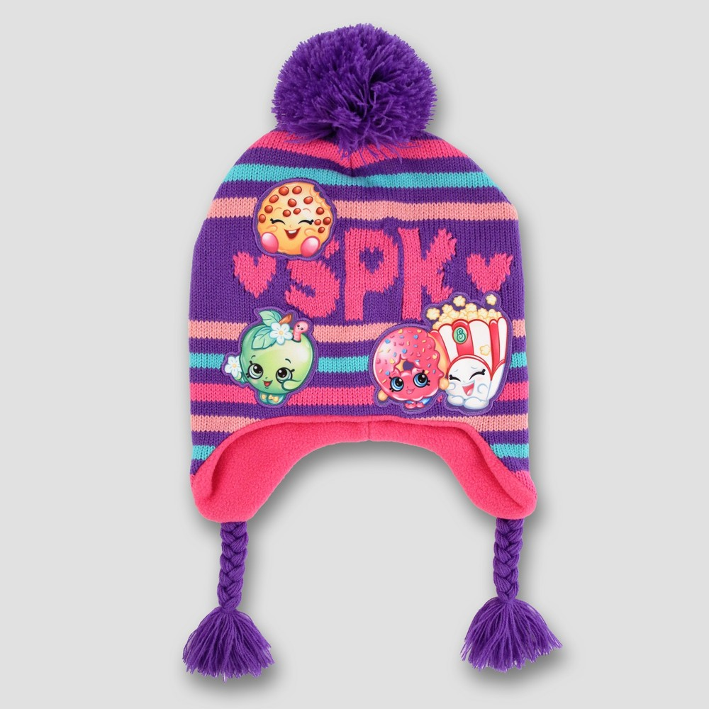 Girls Shopkins Peruvian Hat - Pink