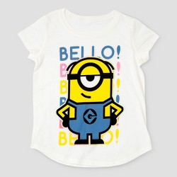 Girls' Despicable Me 3 Bello Cap Sleeve T-Shirt - White