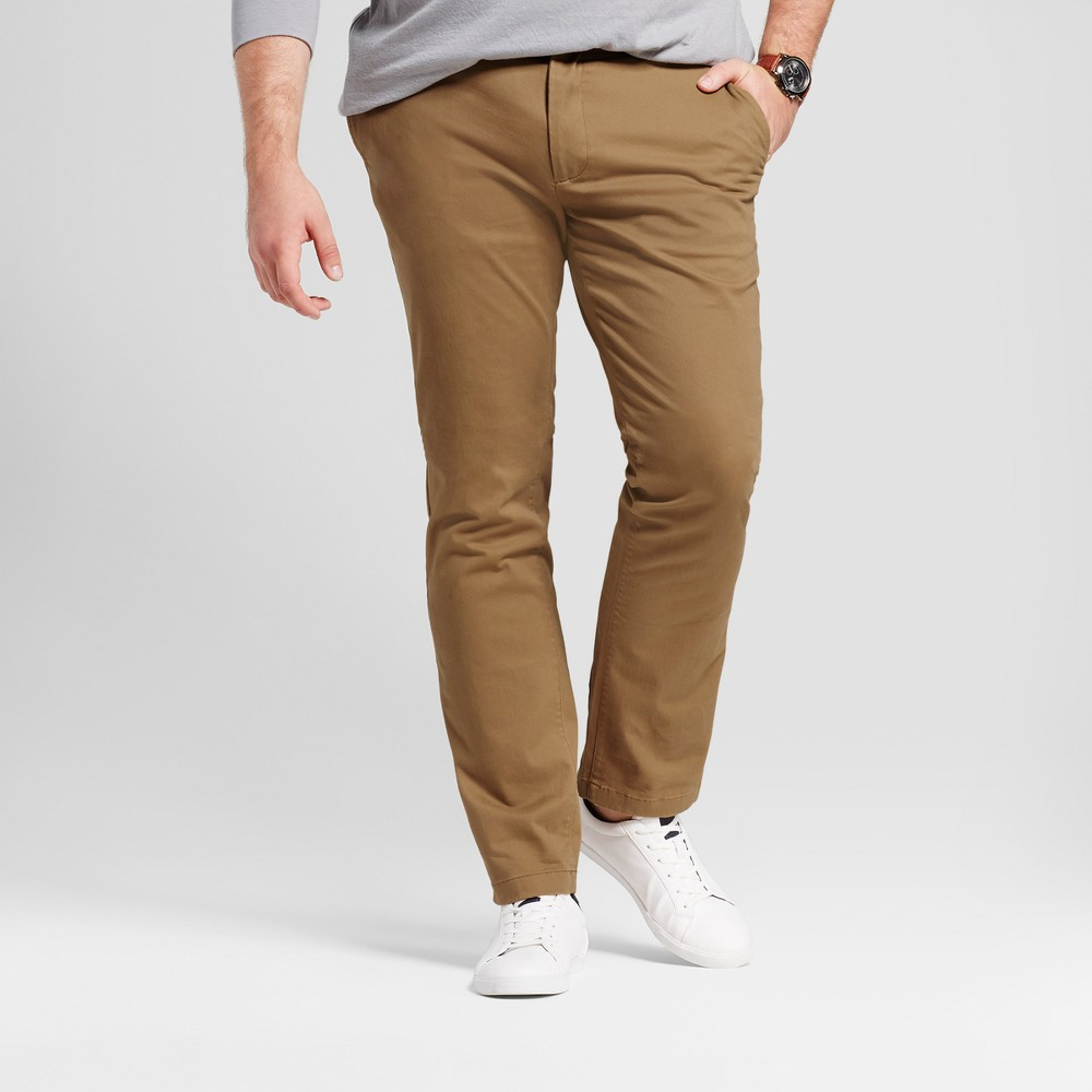 Mens Big & Tall Slim Fit Hennepin Chino Pants - Goodfellow & Co Light Brown 56X30