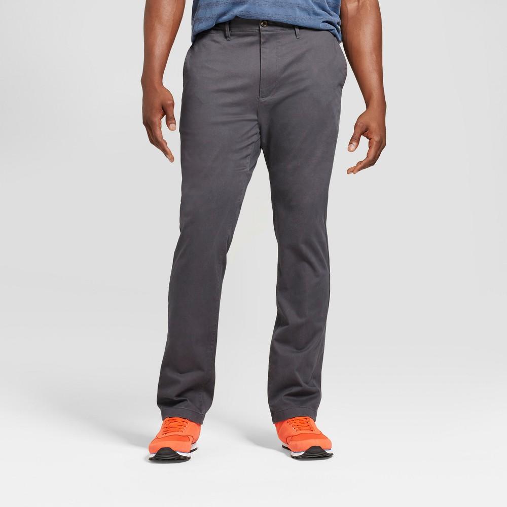 Mens Big & Tall Slim Fit Hennepin Chino Pants - Goodfellow & Co Dark Gray 52x32