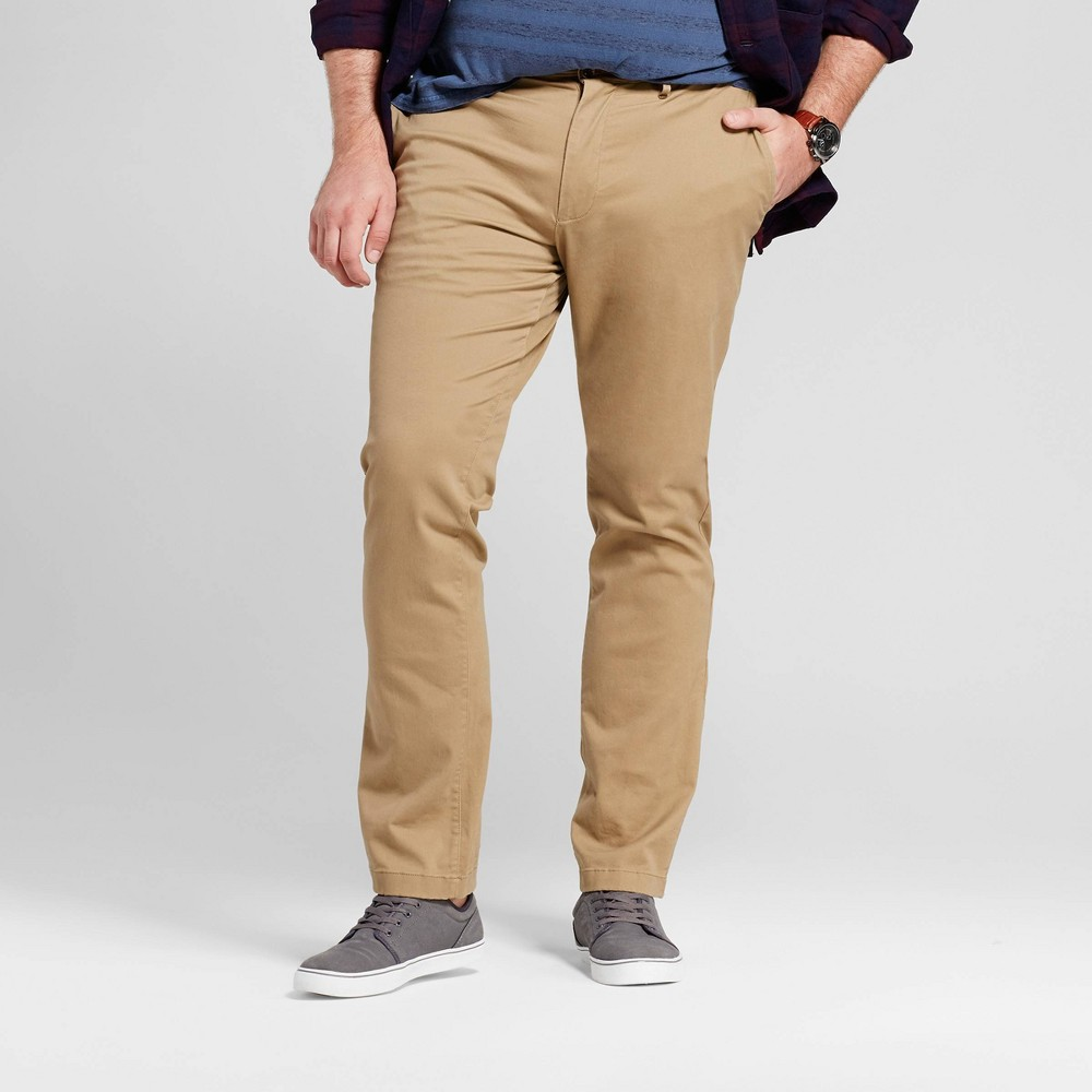 Mens Big & Tall Slim Fit Hennepin Chino Pants - Goodfellow & Co Tan 48X34
