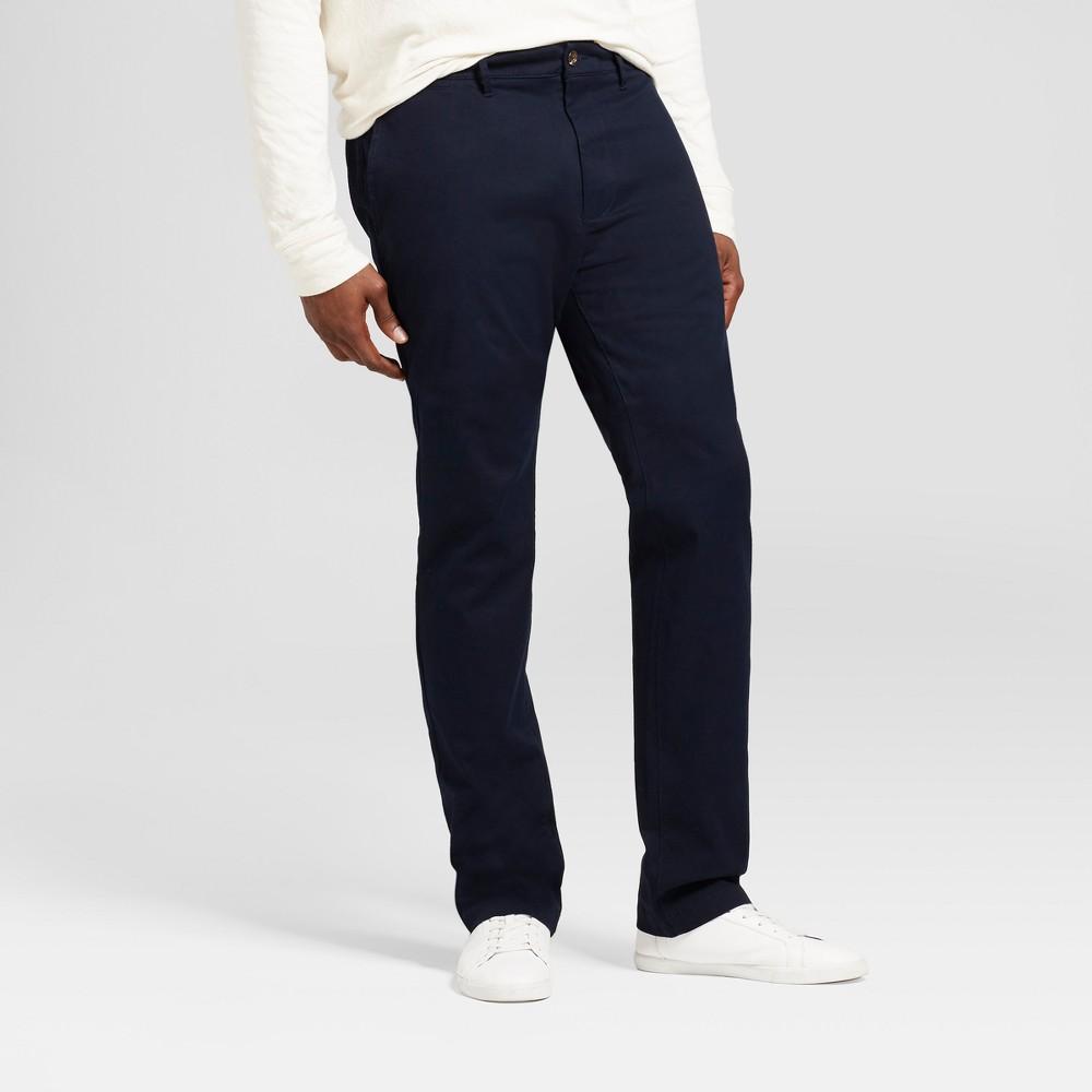 Mens Big & Tall Slim Fit Hennepin Chino Pants - Goodfellow & Co Navy (Blue) 46X32