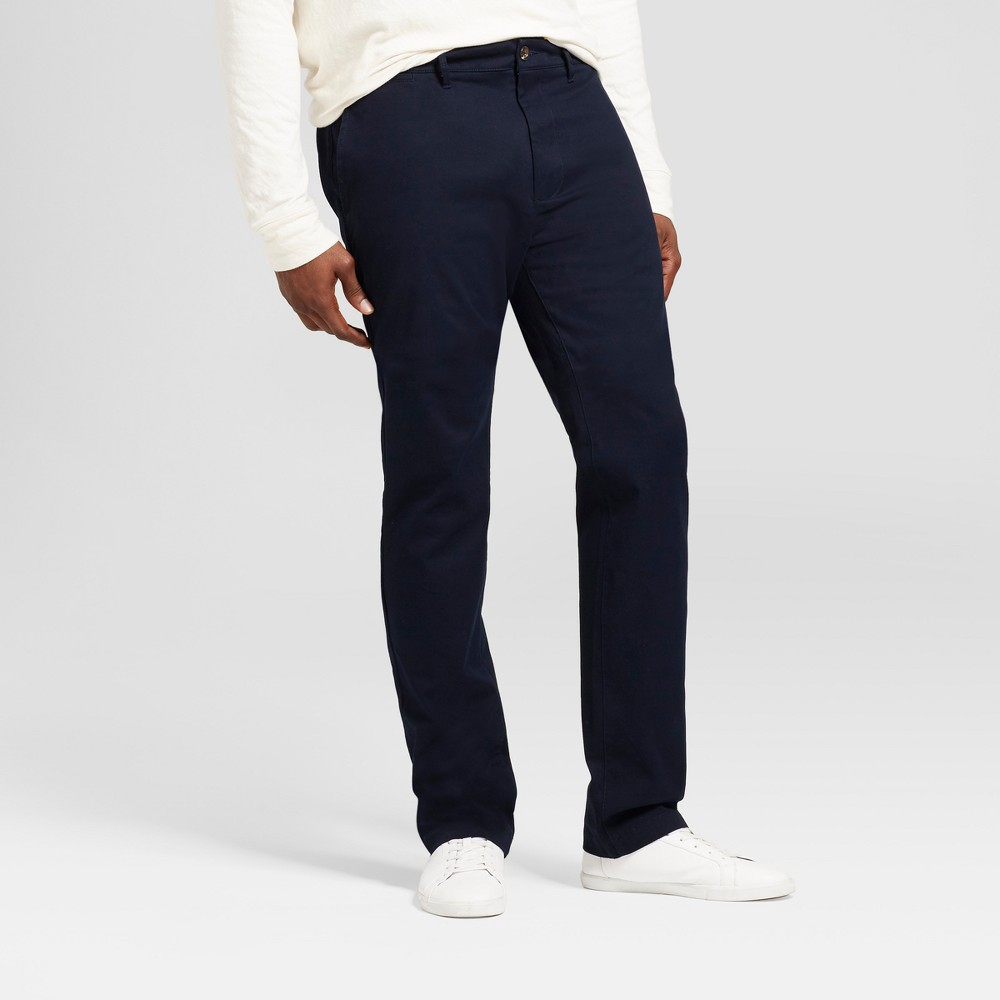 Mens Big & Tall Slim Fit Hennepin Chino Pants - Goodfellow & Co Navy (Blue) 46X36