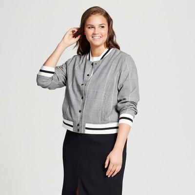 Women's Plus Size Varsity Bomber Jacket - Who What Wear