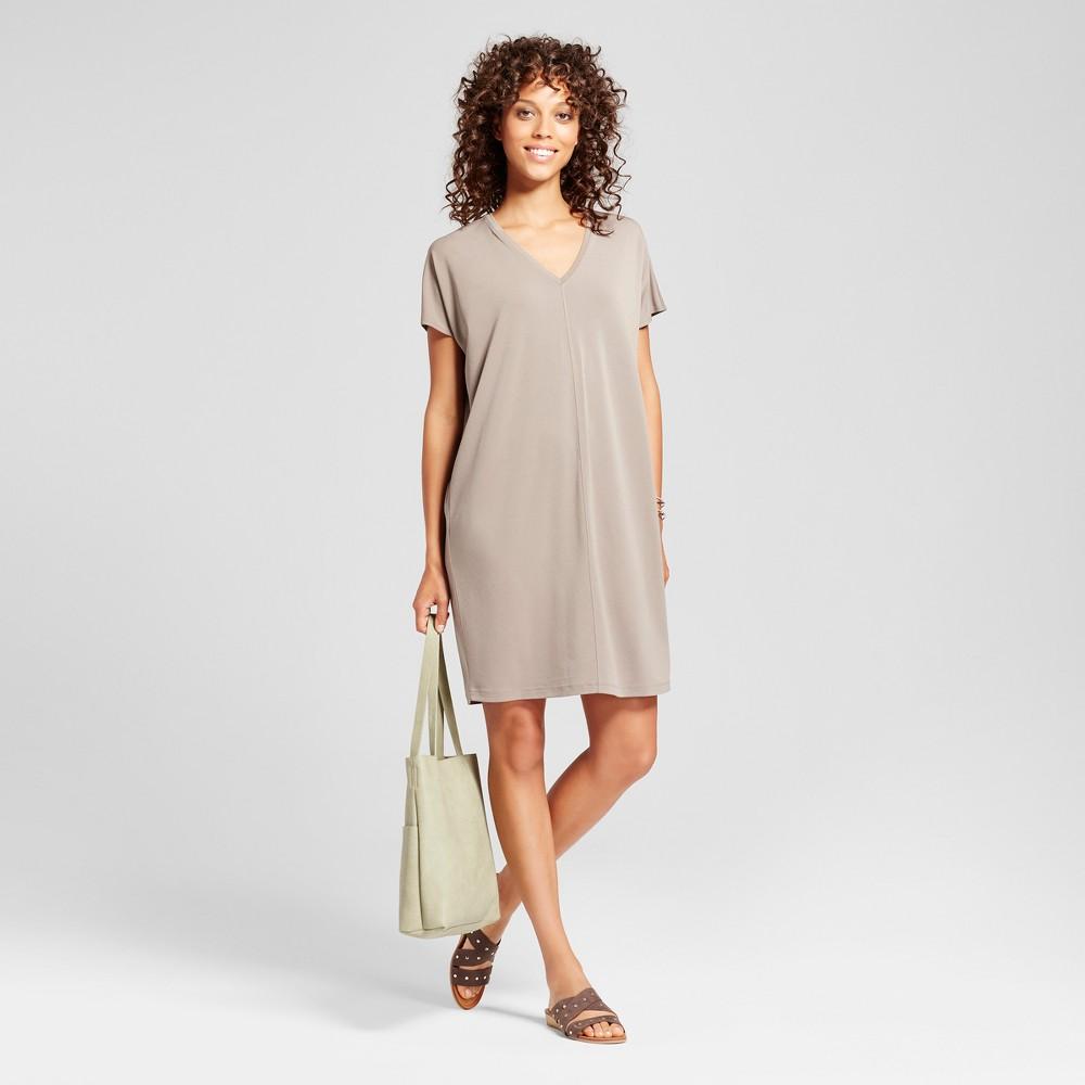 Womens Midi T-Shirt Dress - Mossimo Brown XS