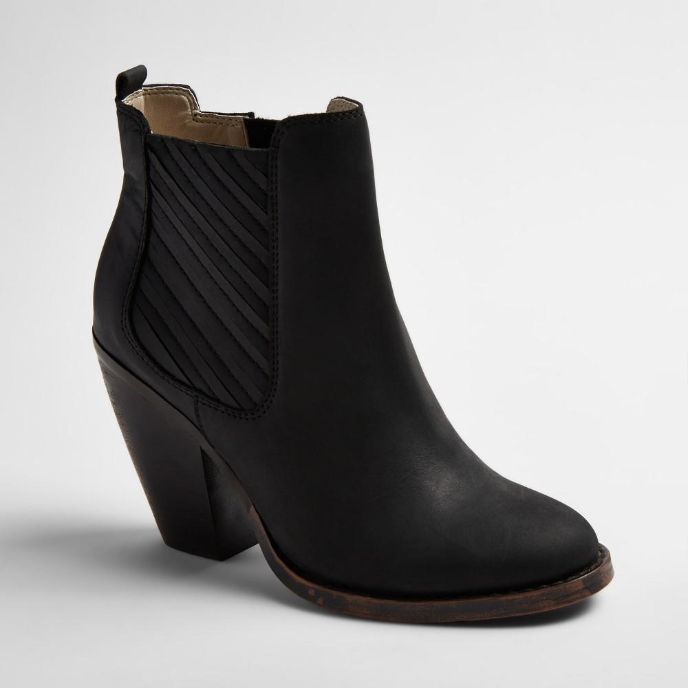 Womens Soho Cobbler Elemi Leather Side Gore Booties - Black 8.5