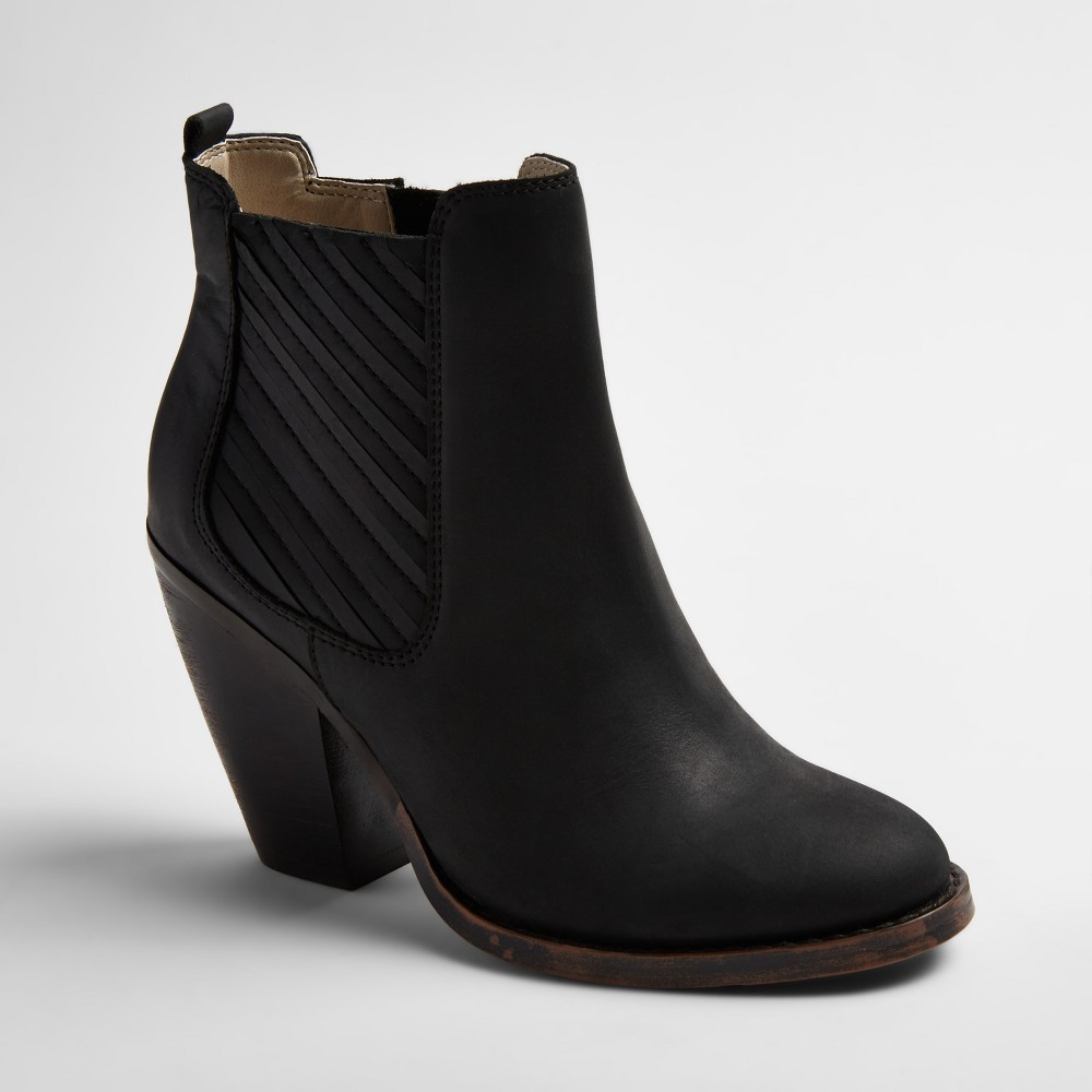 Womens Soho Cobbler Elemi Leather Side Gore Booties - Black 9