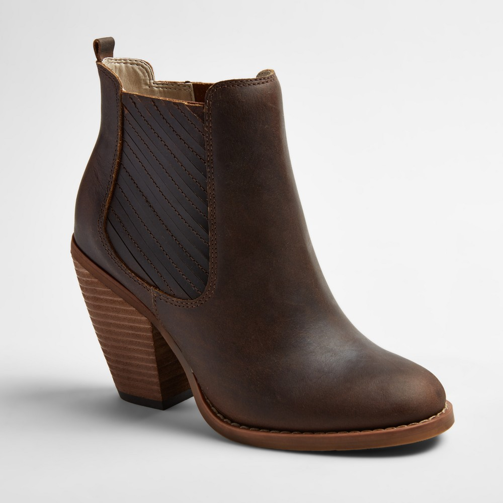 Womens Soho Cobbler Elemi Leather Side Gore Booties - Sand (Brown) 8.5